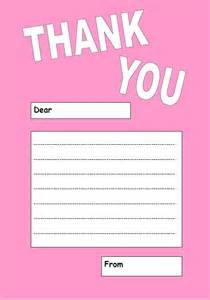 Thank You Letter Paper Template Free Downloadable Printable Thank You Notes Great For Children Ukok S Place