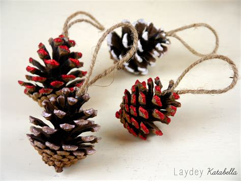 diy pine cone christmas decorations youtube