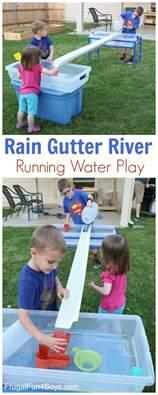 Backyard Preschoolers Build A Gutter River For Running Water Play Frugal