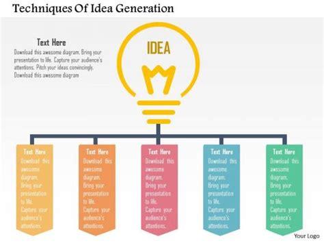 idea presentation template business diagram techniques of idea generation