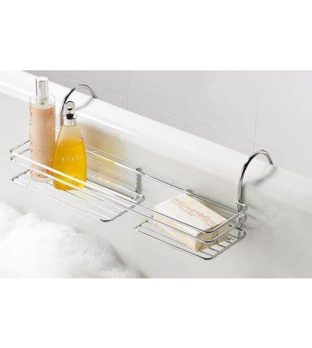 over the bathtub caddy over bath caddy chrome webb ivory