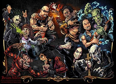 horror   heavy metal character designs flyland