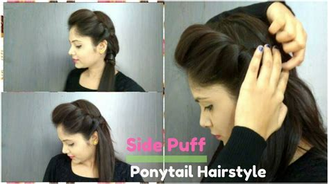 how to do a puff hairstyle steps by step how to side puff with trick and ponytail hairstyle how to