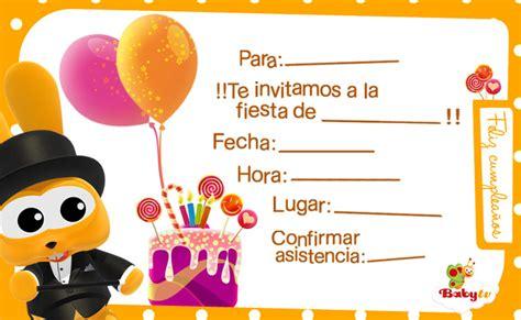 imagenes de cumpleaños para invitaciones babytv invitaciones de cumplea 241 os