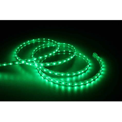 holiday time 19 6 led green rope light walmart com