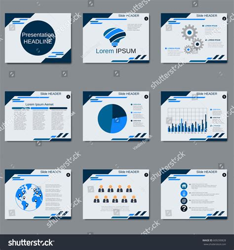 presentation layout design vector professional business presentation slide show vector stock