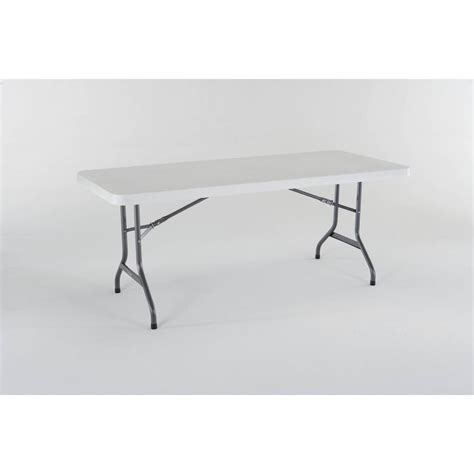 lifetime 72 table shop lifetime products 72 in x 30 in rectangle steel white