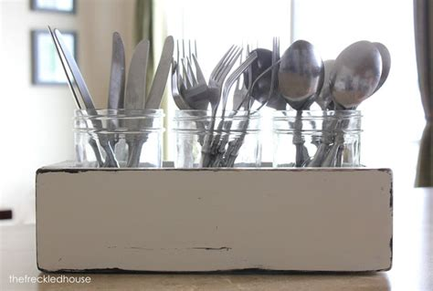 the freckled house napkin holder and silverware caddy