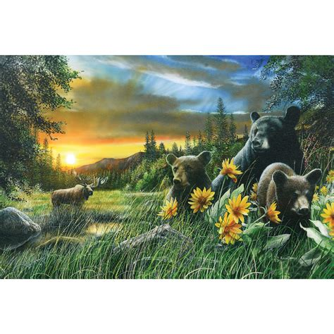 Black Bear & Moose LED Wall Art