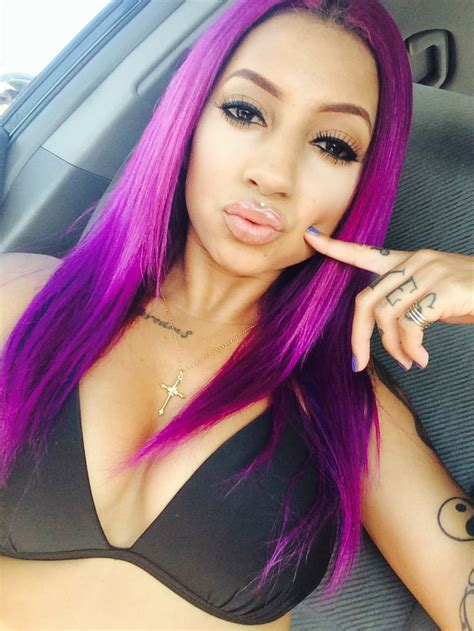 hairstyles in colors purple long hair beauty pinterest