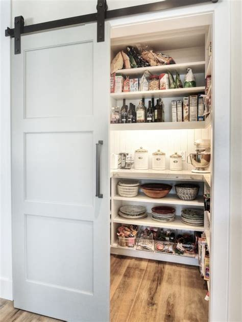 Barn Pantry Door by Pantry With Sliding Barn Door Home Design Ideas Pictures