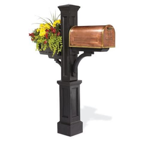 Mailbox Post With Planter by How To Build A Mailbox Post With Planter Woodworking