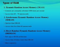Image result for What are the examples of random-access memory?