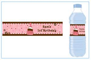 1st birthday topsy turvy pink cake water bottle label birthday party water bottle stickers
