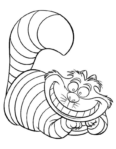 alice wonderland coloring pages coloring home