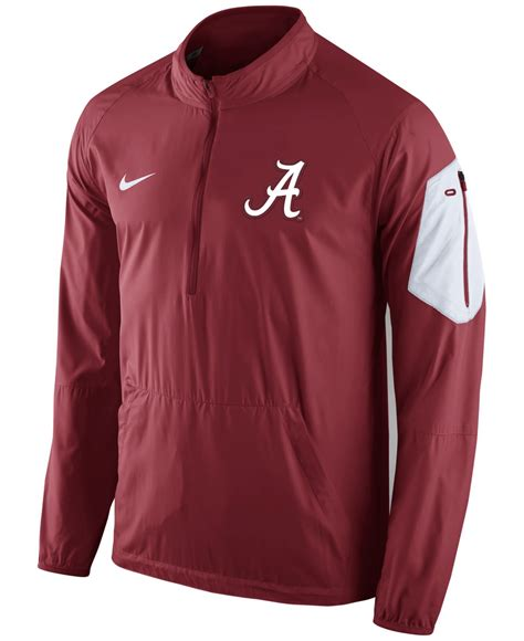 Jaket Zipper Nike Logo nike s alabama crimson tide lockdown half zip jacket in for lyst