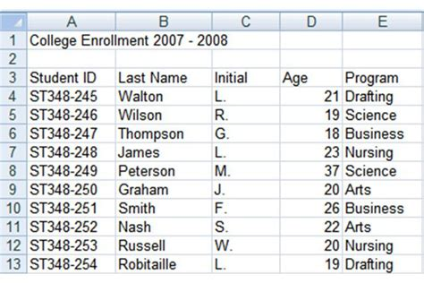 tutorial using excel as a database how to create an excel database