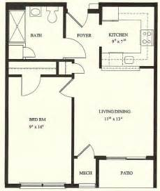 Floor Plan For 1 Bedroom House by 1 Bedroom House Plans 1 Bedroom Floor Plans 1 Bedroom
