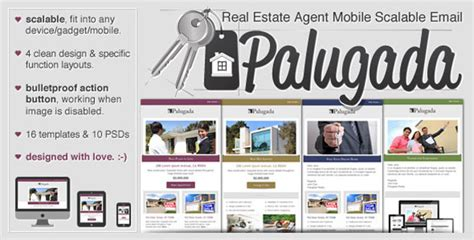 New Responsive Html Newsletter Email Templates Ewebdesign Newsletter Templates For Real Estate Agents