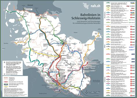 trains germany map schleswig holstein railway map