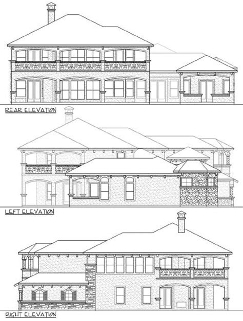 high end home plans high end mediterranean house plan 36433tx 1st floor