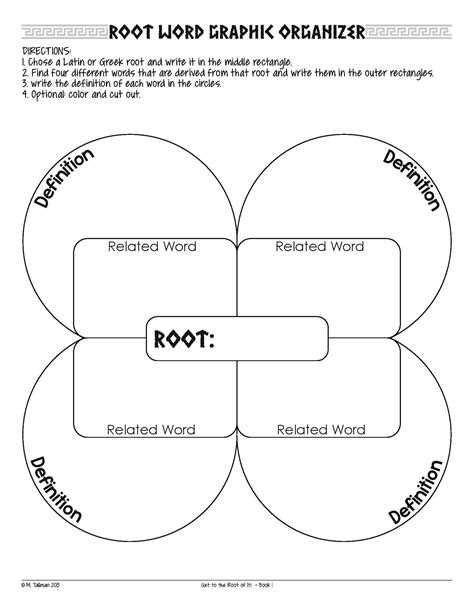 concept pattern organizer meaning greek and latin root word graphic organizer plus a few