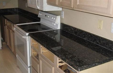 black granite tile kitchen countertops smith design 3