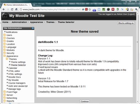 themes moodle 1 9 free darkmoodle 1 1 theme updated and re released batman s