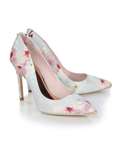 ted baker shoes ted baker s kawaap printed heeled court shoes