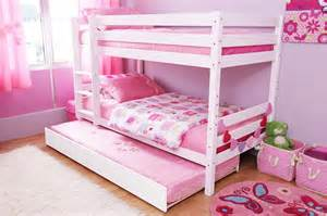 Girls Double Beds by Betty Bunk Bed With Trundle Color White