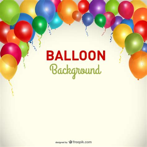 party background balloons template vector free download