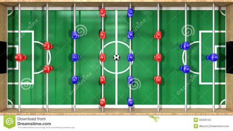 Fuseball Table foosball table top view royalty free stock photo image