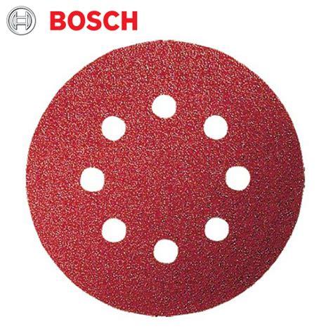 Bosch Velcro Disc bosch 5 pce sanding disc velcro 125mm 240gr with holes
