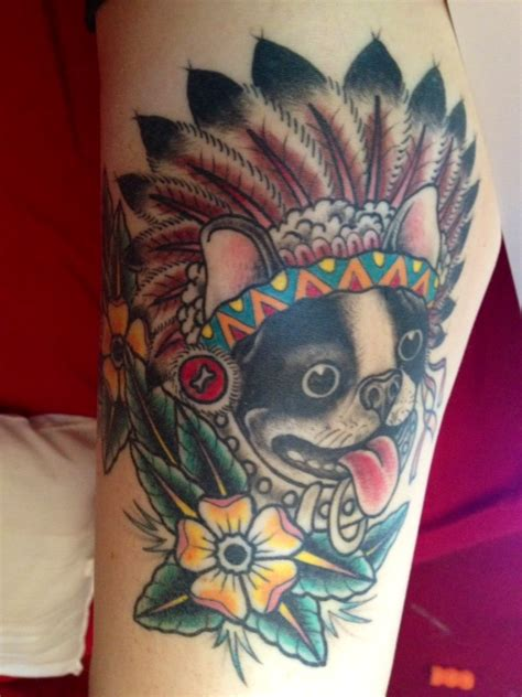 boston terrier tattoos designs photo boriss the boston terrier gets immortalized with a