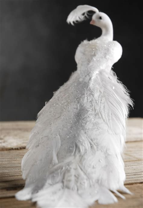 elegant white peacock wedding christmas decoration ebay
