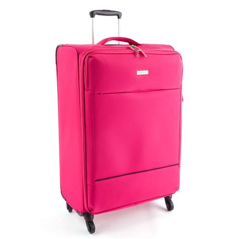 large cabin baggage highbury suitcase luggage lightweight 4 wheel trolley