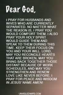 prayer comfort during separation