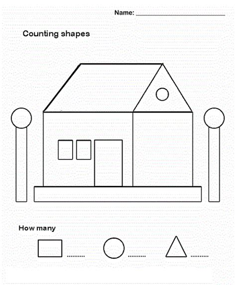 printable shapes to make a house educational activities for 3 year olds printable