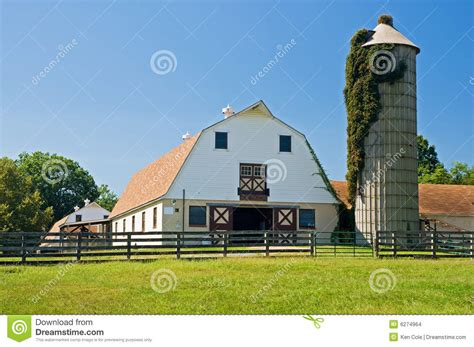 Country Farmhouse Plans by Barns And Silo On Dairy Farm Stock Photo Image Of