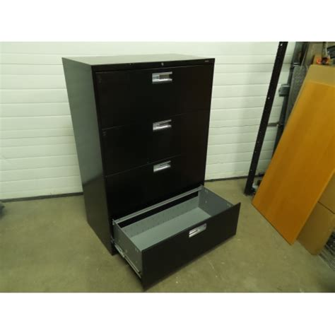 Lateral Locking File Cabinet Hon Black 4 Drawer Lateral File Cabinet Locking W Key Allsold Ca Buy Sell Used Office
