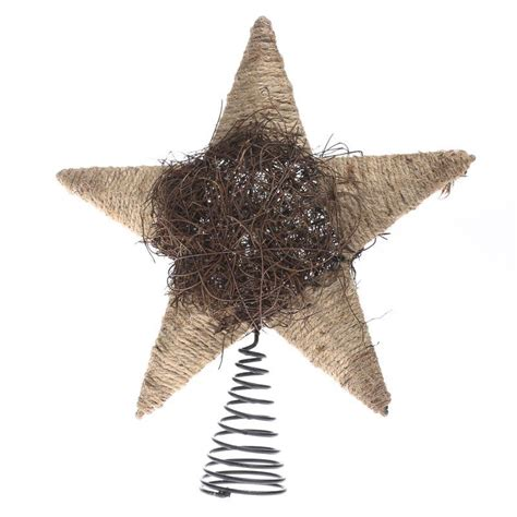 rustic tree topper rustic jute and twig tree topper new items