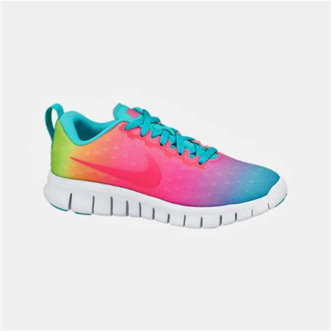 rainbow nike sneakers nike free express ps running shoes nib sz 3 5y
