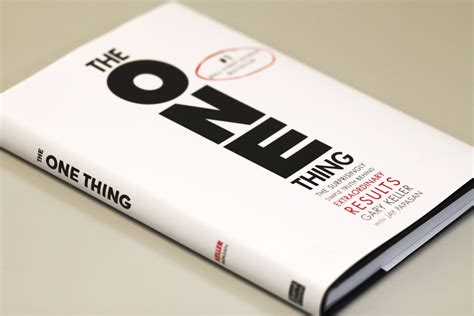 the one things books transcript the one thing book discussion