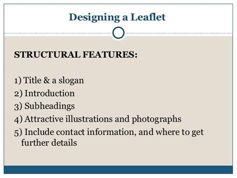 Leaflet Writing Layout | leaflet writing presentation
