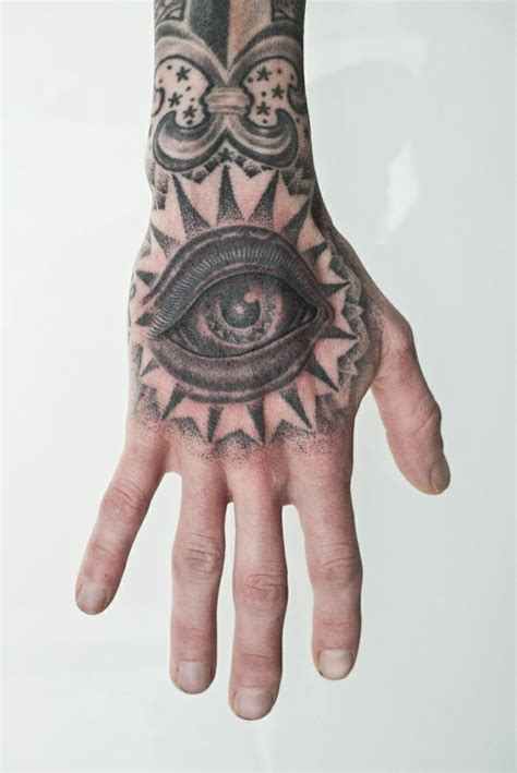 hand eye tattoo hooper eye permanent markings