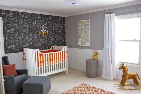 orange white room orange gray and white nursery room project nursery