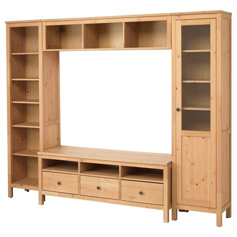 ikea furnitures hemnes tv storage combination light brown 246x197 cm ikea