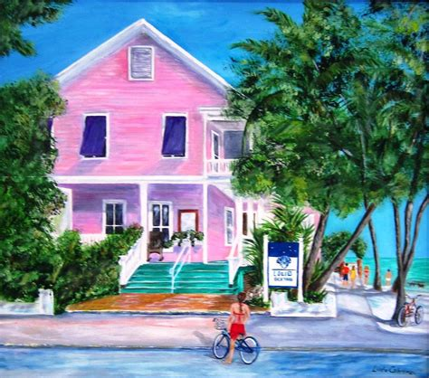 louie s backyard key west painting by cabrera