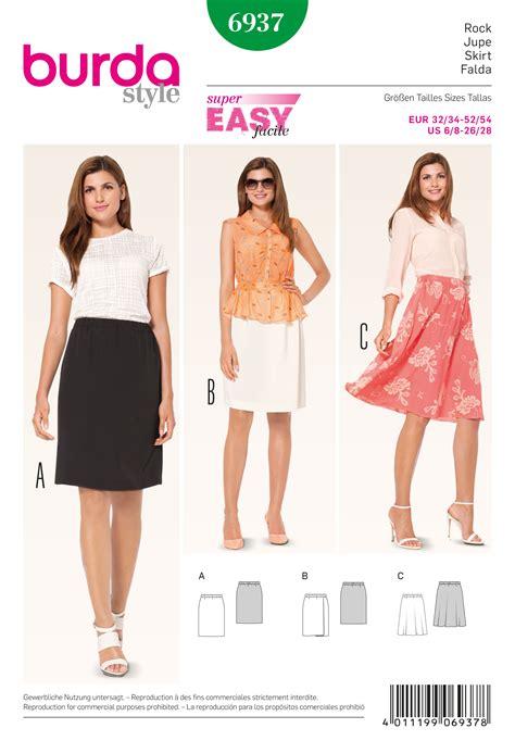 skirt pattern burda 6937 burda pattern misses skirt
