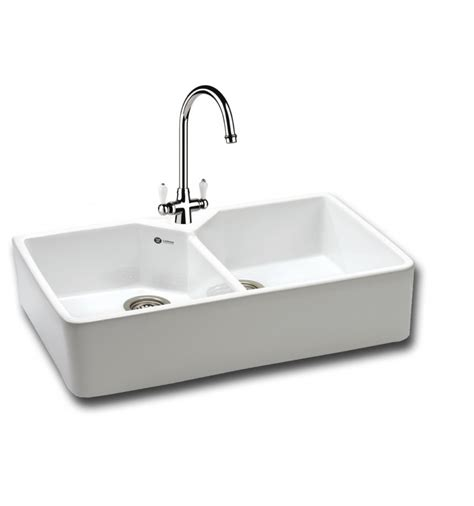 carron kitchen sinks carron phoenix 200 ceramic double bowl belfast kitchen sink
